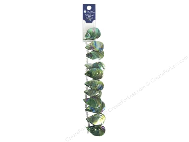 Blue Moon Beads Bead Strand 7 in. Shell #9 Abalone Green