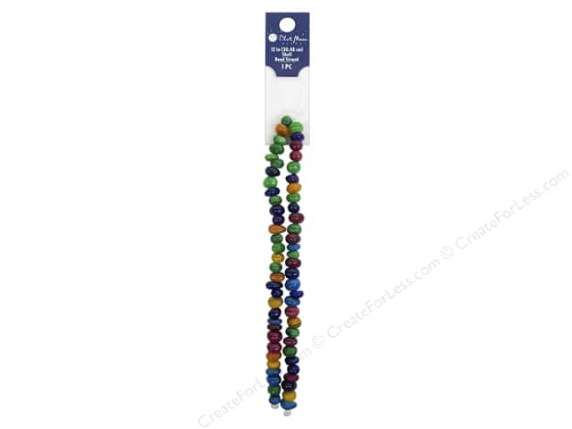 Blue Moon Beads Bead Strand 12 in. Shell Roundel Multi Rainbow