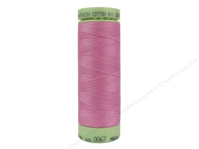 Mettler Silk Finish Cotton Thread 60 wt. 220 yd. #0067 Roseate