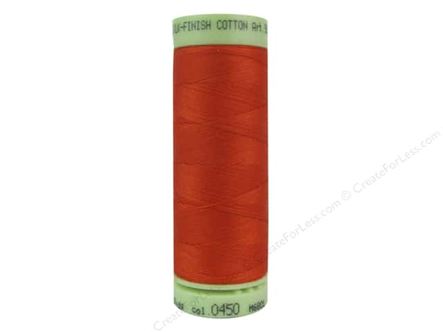 Mettler Silk Finish Cotton Thread 60 wt. 220 yd. #0450 Paprika