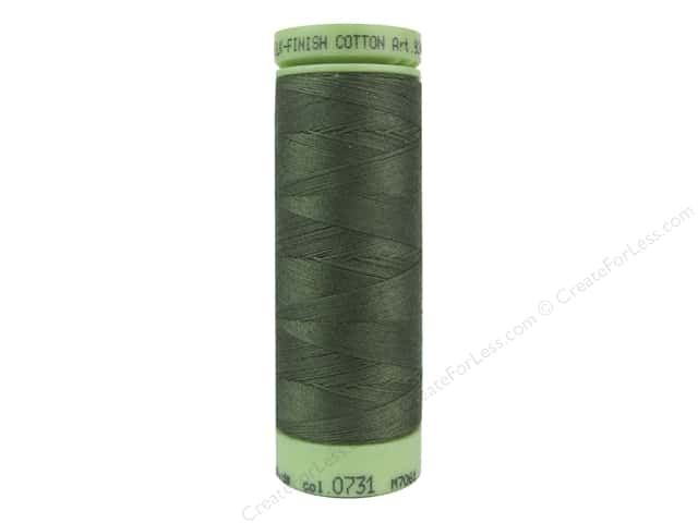 Mettler Silk Finish Cotton Thread 60 wt. 220 yd. #0731 Burnt Olive