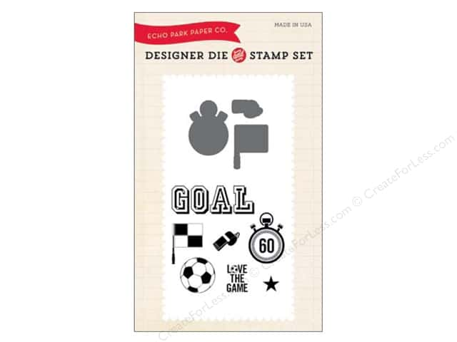 Echo Park Designer Die and Stamp Set Everyday Soccer