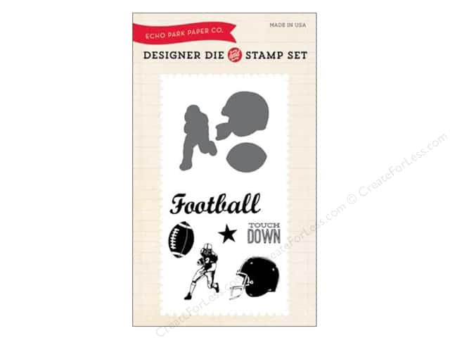 Echo Park Designer Die and Stamp Set Everyday Football