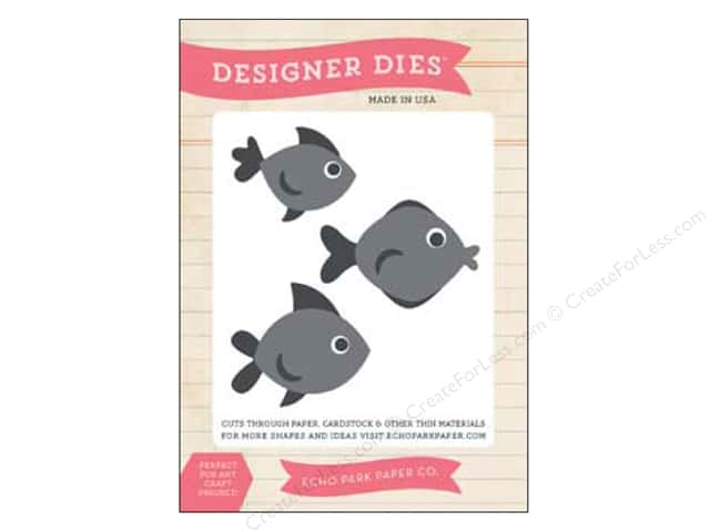 Echo Park Designer Dies Summer Medium Fish Set