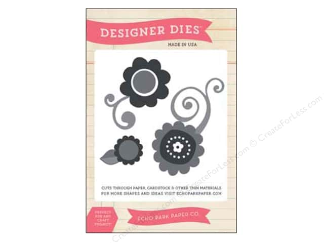 Echo Park Designer Dies Spring Large Flower Set 3