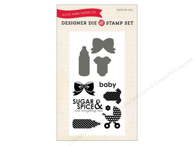Echo Park Designer Die and Stamp Set Spring Sugar & Spice