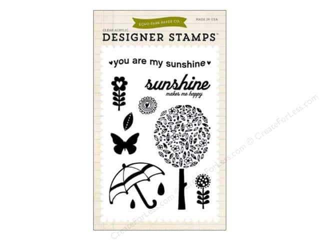 Echo Park Clear Stamp Set Spring You Are My Sunshine