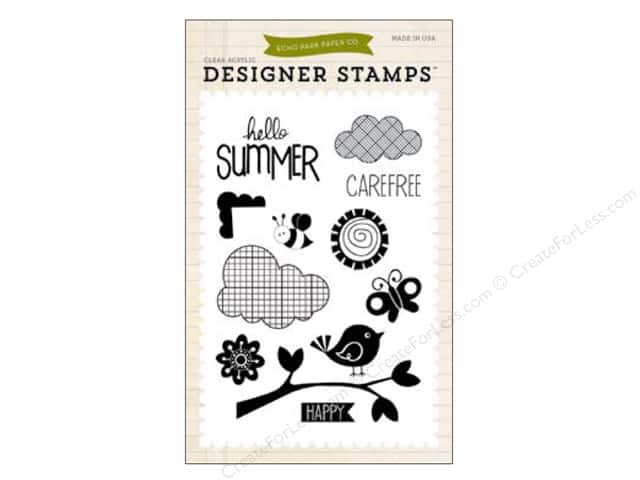 Echo Park Clear Stamp Set Summer Hello Summer