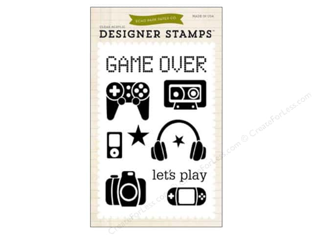 Echo Park Clear Stamp Set Children Game On