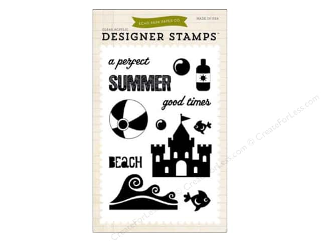 Echo Park Clear Stamp Set Summer Perfect Summer