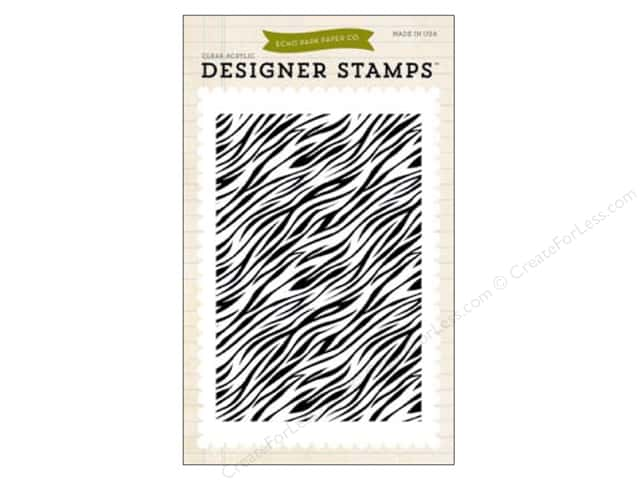 Echo Park Clear Stamp Set Children Zebra Print