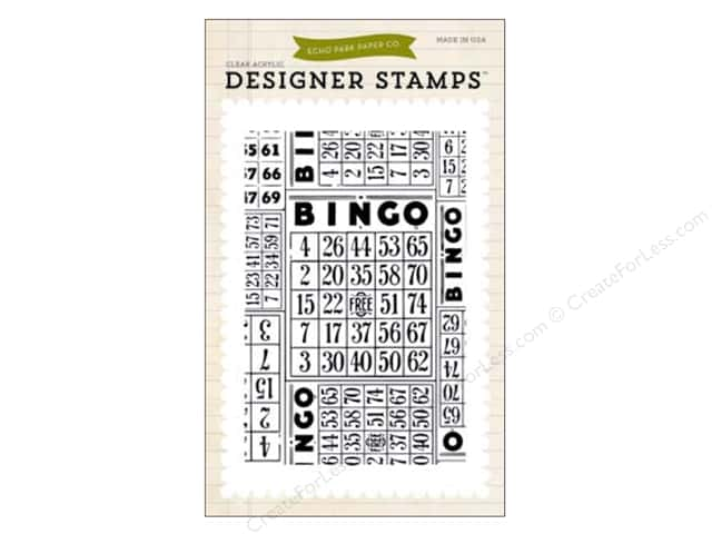 Echo Park Clear Stamp Set Everyday Bingo Cards