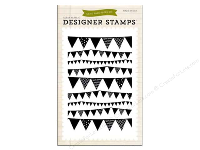 Echo Park Clear Stamp Set Children Pennant