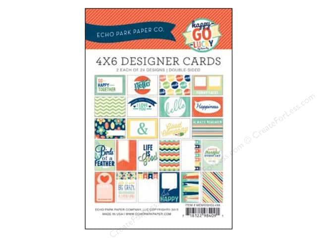 Echo Park Designer Cards 4 x 6 in. Happy Go Lucky