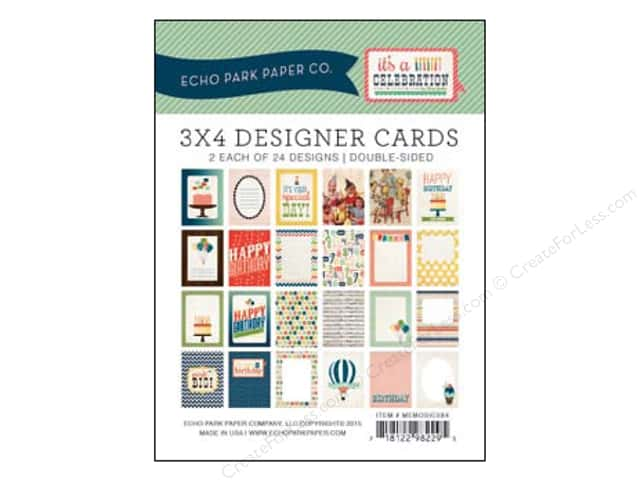 Echo Park Designer Cards 3 x 4 in. It's A Celebration