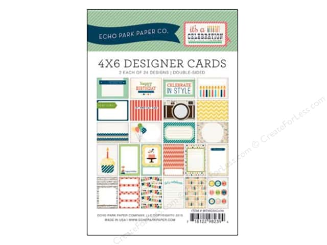 Echo Park Designer Cards 4 x 6 in. It's A Celebration