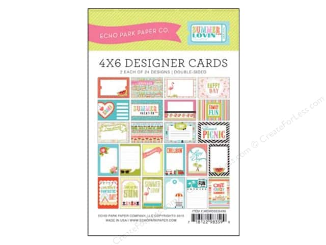 Echo Park Designer Cards 4 x 6 in. Summer Lovin'