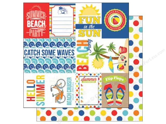Echo Park 12 x 12 in. Paper Beach Party Collection Journal Cards (15 sheets)