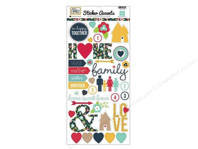 Echo Park Sticker 6 x 12 in. Our Family Collection (15 sets)