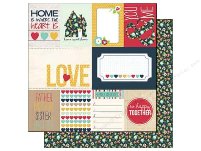 Echo Park 12 x 12 in. Paper Our Family Collection Journal Cards (15 sheets)