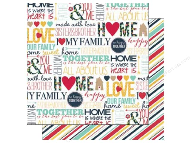 Echo Park 12 x 12 in. Paper Our Family Collection Words (15 sheets)