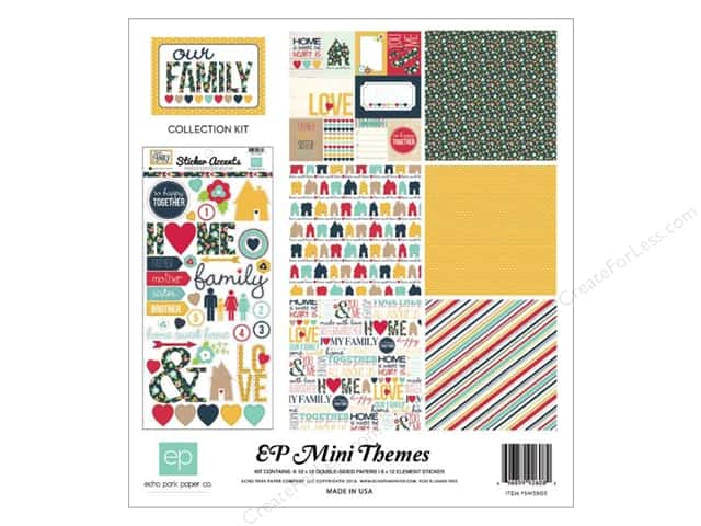 Echo Park 12 x 12 in. Collection Kit Our Family