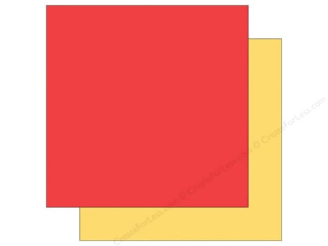 Echo Park 12 x 12 in. Paper Sunny Days Ahead Collection Red/Yellow (25 sheets)