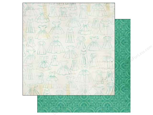 Echo Park 12 x 12 in. Paper Jack & Jill Girl Collection Dress Pattern (25 sheets)