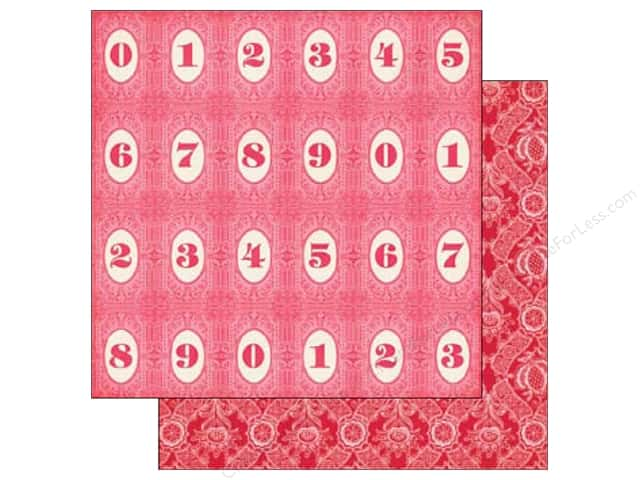 Echo Park 12 x 12 in. Paper Jack & Jill Girl Collection Number Circles (25 sheets)