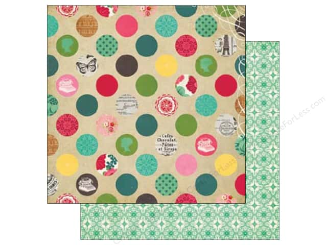 Echo Park 12 x 12 in. Paper Jack & Jill Girl Collection Delightful Dot (25 sheets)