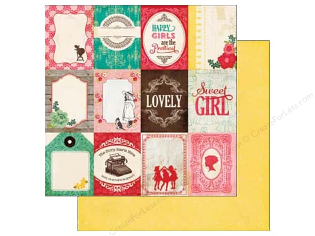 Echo Park 12 x 12 in. Paper Jack & Jill Girl Collection 3 x 4 in. Journaling (25 sheets)