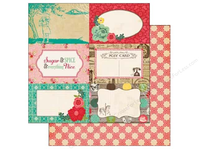 Echo Park 12 x 12 in. Paper Jack & Jill Girl Collection 4 x 6 in. Journaling (25 sheets)