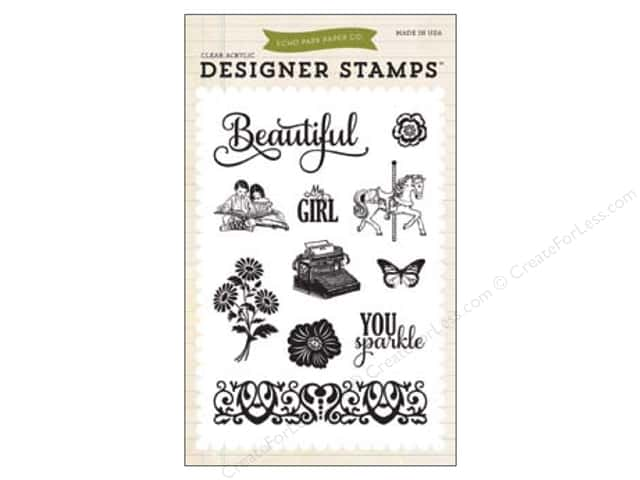 Echo Park Jack & Jill Girl Collection Stamp Beautiful Girl