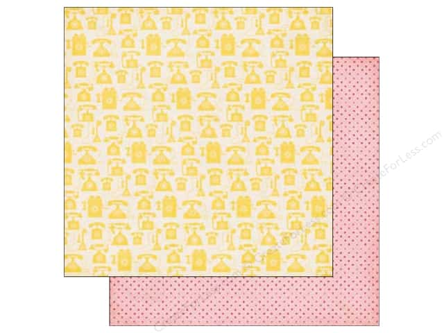 Echo Park 12 x 12 in. Paper Jack & Jill Girl Collection Yellow Telephones (25 sheets)