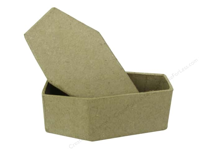 PA Paper Mache Mini Coffin Box 4 in.