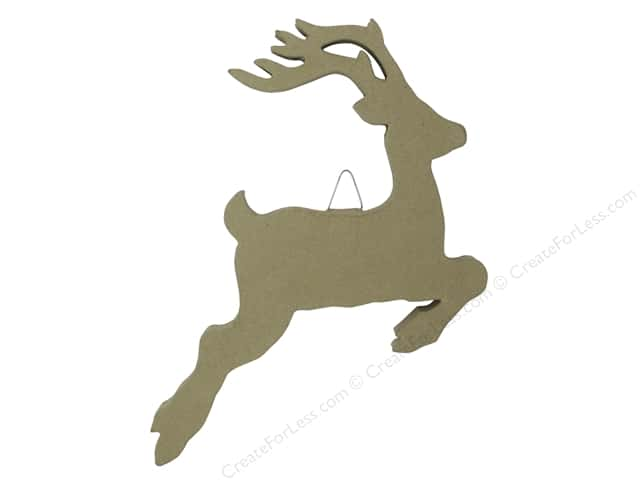 Paper Mache Flat Jumping Deer 14 in. by Craft Pedlars (12 pieces)