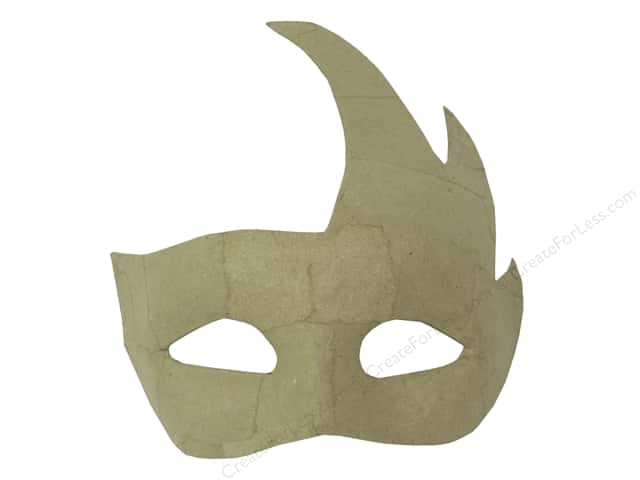 Paper Mache Half Mask Phantom by Craft Pedlars