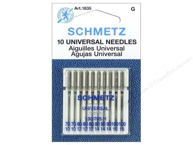 Schmetz Universal Needle Assorted 70/80/90/100 10pc