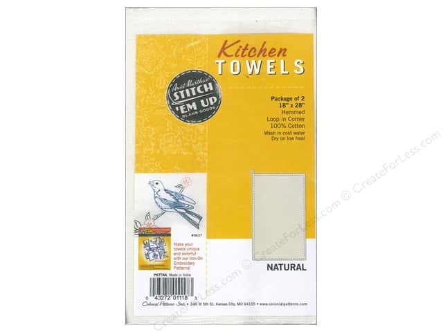 Aunt Martha's Kitchen Towels 2 pc. Natural