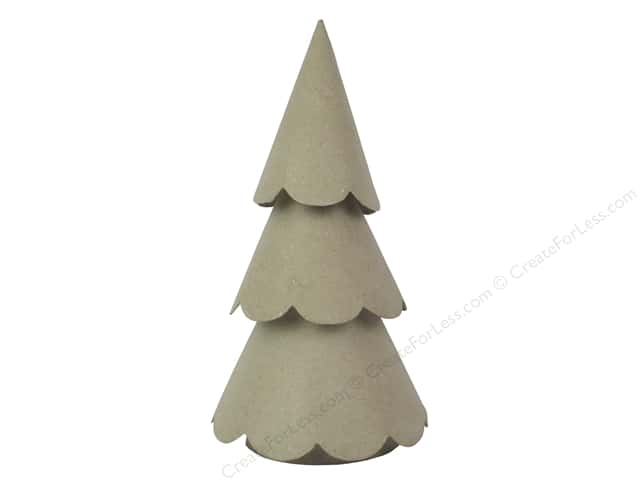 Paper Mache 3 Layer Scallop Tree 12 in. by Craft Pedlars