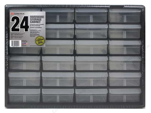 Craft Design Craft Center Organizer 24 Drawer Black