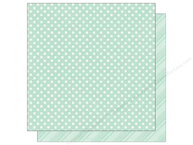 Echo Park 12 x 12 in. Paper Dots & Stripes Spring Robin's Egg (25 sheets)