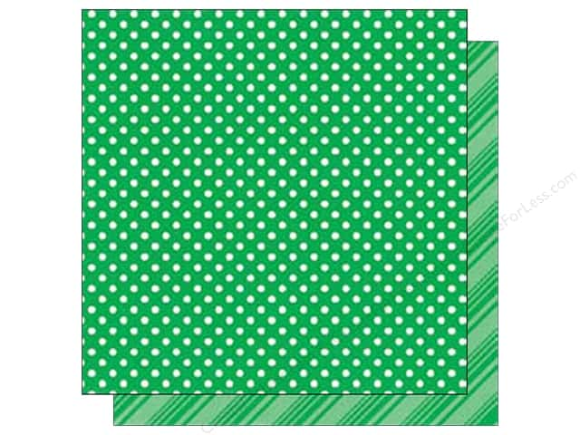 Echo Park 12 x 12 in. Paper Dots & Stripes Summer Grass (25 sheets)