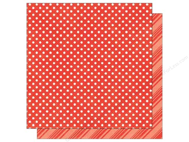 Echo Park 12 x 12 in. Paper Park Dots & Stripes Summer Tomato (25 sheets)