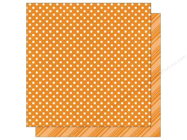 Echo Park 12 x 12 in. Paper Dots & Stripes Summer Collection Orange (25 sheets)