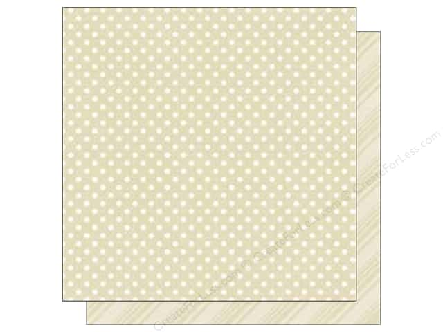 Echo Park 12 x 12 in. Paper Dots & Stripes Neutral Collection Carmel (25 sheets)