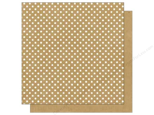 Echo Park 12 x 12 in. Paper Dots & Stripes Neutral Collection Kraft (25 sheets)