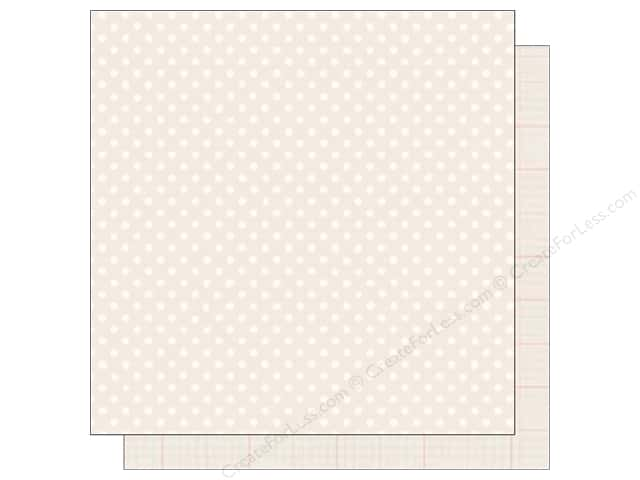 Echo Park 12 x 12 in. Paper Dots & Stripes Neutral Collection Cream (25 sheets)