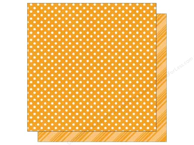 Echo Park 12 x 12 in. Paper Dots & Stripes Brights Collection Tangerine (25 sheets)