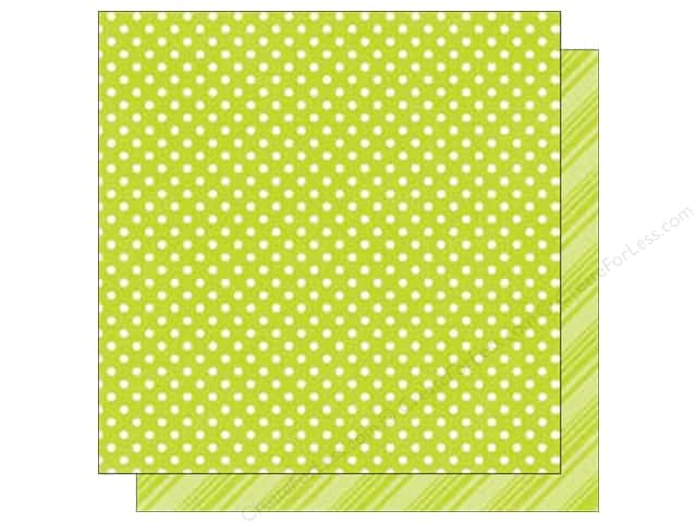 Echo Park 12 x 12 in. Paper Dots & Stripes Brights Collection Lime (25 sheets)